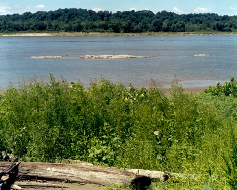 Rock Formation in the Middle Mississippi at Thebes Gap, 2006